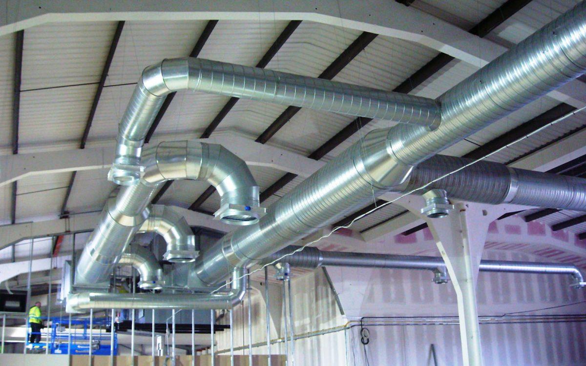 conductos de ventilación y extracción de humos