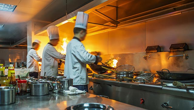 Incendios en cocinas de restaurantes